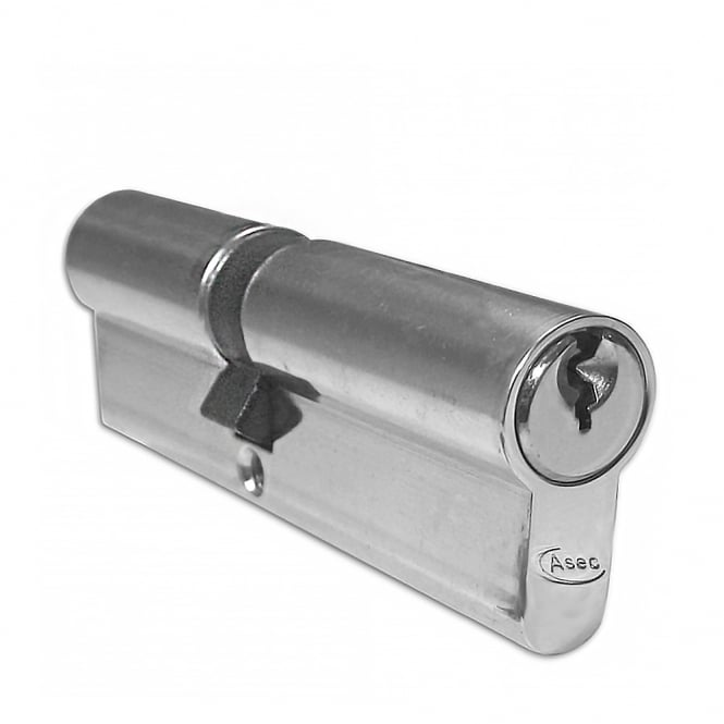 Asec Nickel Plated 105mm 5-Pin Euro Double Cylinder - 45/60