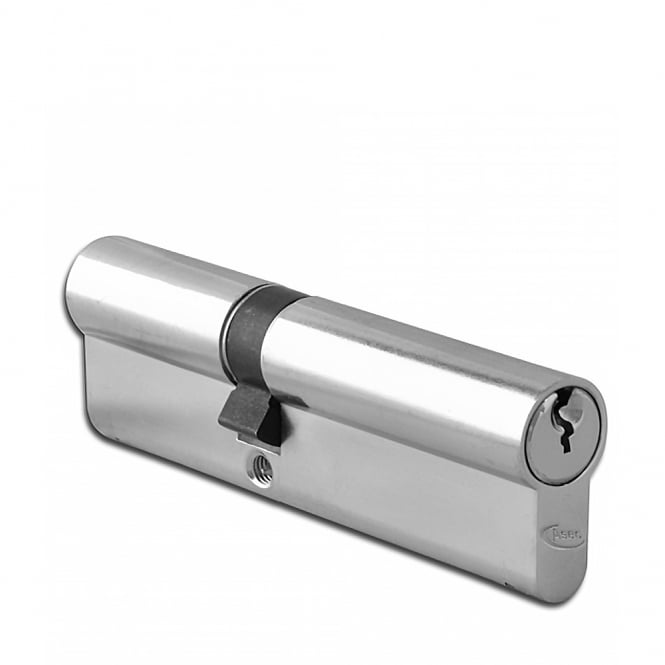 Asec Nickel Plated 120mm 6-Pin Euro Double Cylinder - 75/45