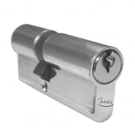 Nickel Plated 65mm 5-Pin Euro Double Cylinder - 30/35
