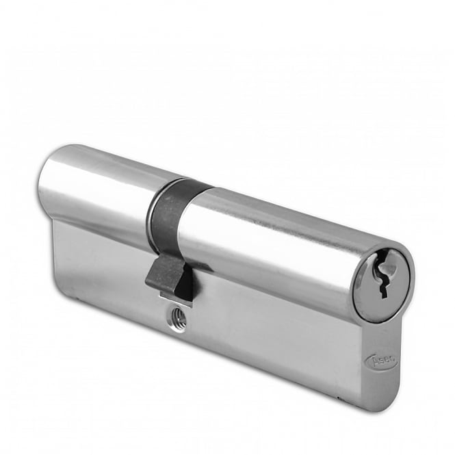 Asec Nickel Plated 95mm 6-Pin Euro Double Cylinder - 40/55
