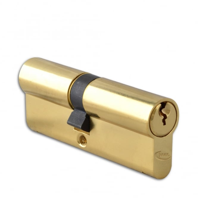 Asec Polished Brass 90mm 6-Pin Euro Double Cylinder - 40/50