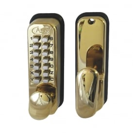 Polished Brass Digital Lock 2300 Series