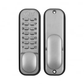 Satin Chrome 2300 Series Digital Lock
