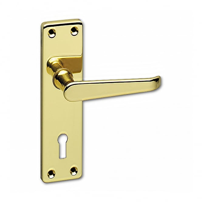 Asec Urban Polished Brass Classic Victorian Mortice Lock Lever Handle