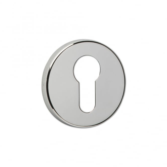 Asec Urban Polished Nickel Concealed Fixing Euro Escutcheon