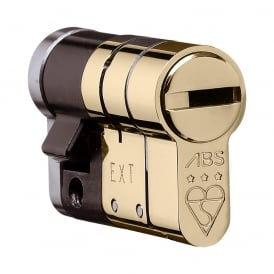 Polished Brass 10/50 High Security Anti Snap High Security Euro Half Cylinder - TS007 3 Star