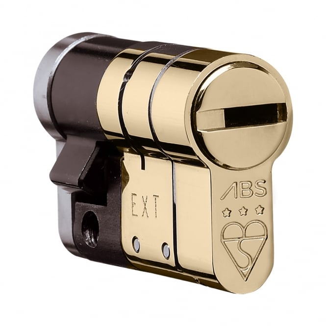 Avocet ABS Polished Brass 10/55 High Security Anti Snap High Security Euro Half Cylinder - TS007 3 Star
