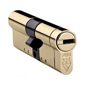 Polished Brass 30/60 High Security Euro Cylinder - TS007 3 Star