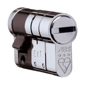 Polished Chrome 10/45 High Security Anti Snap High Security Euro Half Cylinder - TS007 3 Star
