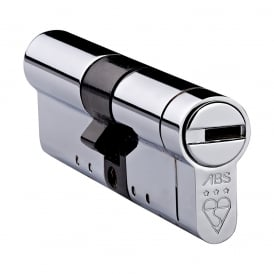 Polished Chrome 30/50 High Security Euro Cylinder - TS007 3 Star