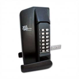 Black BL3430 Operated Metal Gate Double Digital Lock