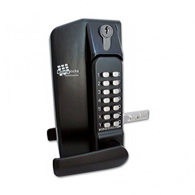 Borg Black BL3430DKO Lever Operated Metal Gate Double Digital Lock