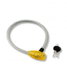 12mm x 65cm Steel Cable Keyed Bicycle Lock