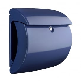 Marine Blue Piano Post Box
