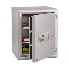 Metallic Silver Key Locking Diplomat Fire Safe