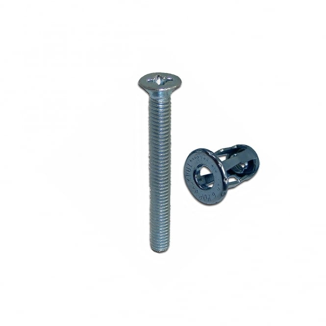 Chameleon Nickel Plated M5 UPVC Hollow Fixing Kit - M5 x 40mm Screw