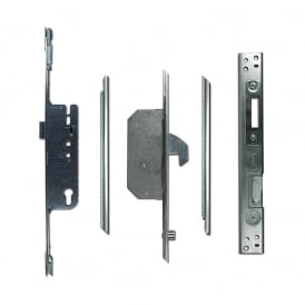 UPVC Adaptable Multipoint Lock 2 Hook & 2 Roller + Keeps - 40/92 Single Spindle