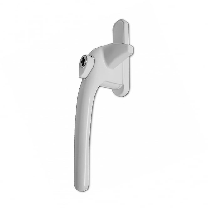 Chameleon White Adaptable Cockspur Window Handle Kit - Left Hand