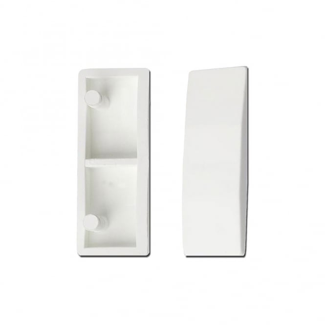 Chameleon White Plastic 5mm Cockspur Handle Fitting Wedge