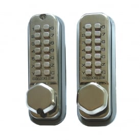 Satin Chrome CL290 Back To Back Digital Lock
