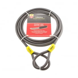 12mm x 9m Braided Steel Double Loop Cable