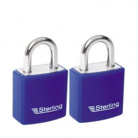 2 x 20mm Keyed Alike Aluminium Padlocks Multi Pack