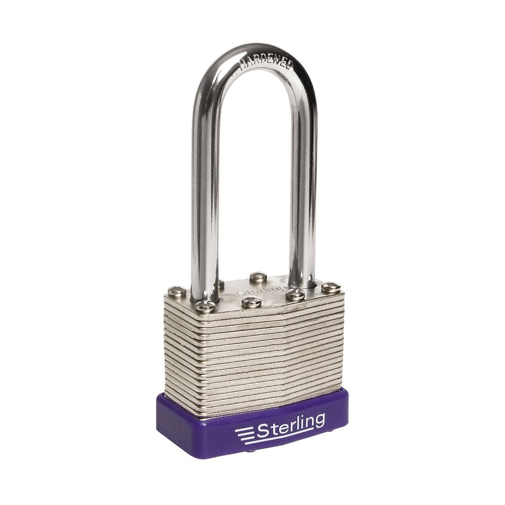 40mm laminated steel long shackle padlock