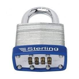 50mm 4 Dial Laminated Steel Combination Padlock