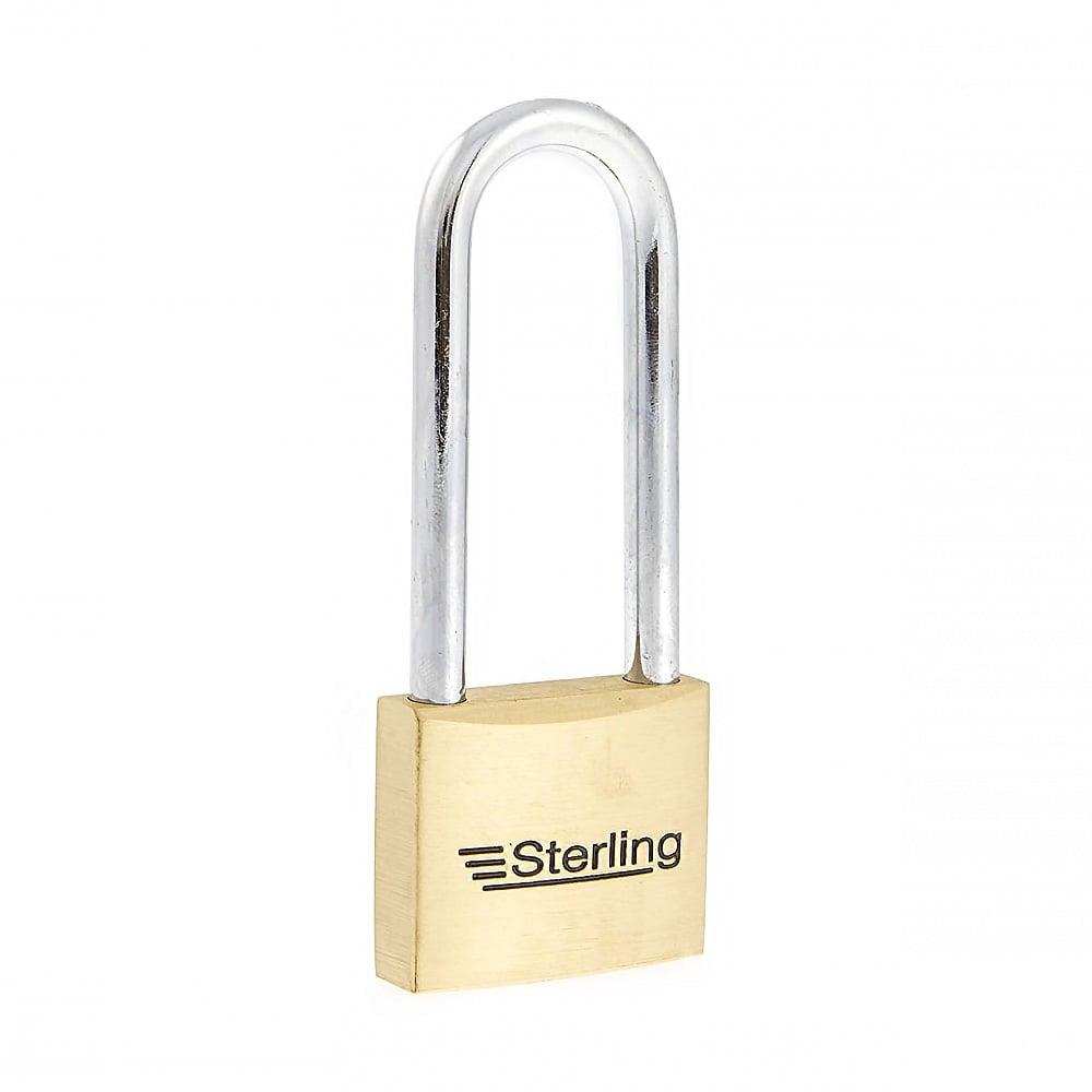 50mm heavy profile long shackle premium brass padlock
