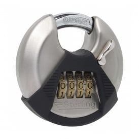70mm 4 Dial Stainless Steel Disc Combination Padlock