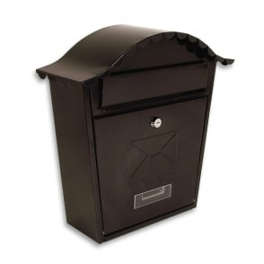 Sterling Black Classic Post Box