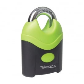 Green 70mm Nylon Covered Steel Closed Shackle Padlock
