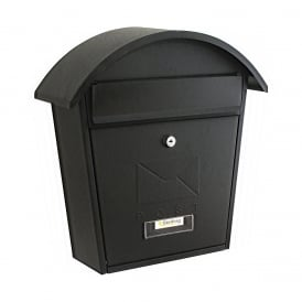 Matt Black Classic 2 Post Box