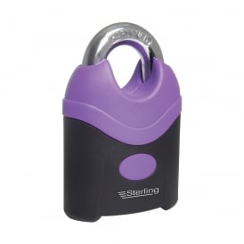 Purple 70mm Nylon Covered Steel Closed Shackle Padlock