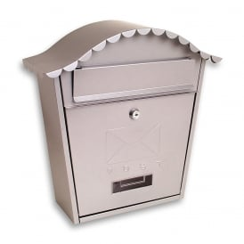 Silver Classic Post Box