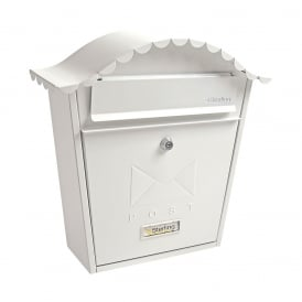 White Classic Post Box