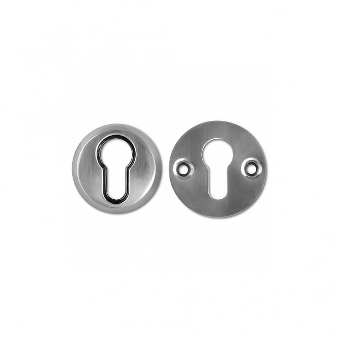 Union C-Series Satin Chrome 3C14E Security Rose Euro Escutcheon