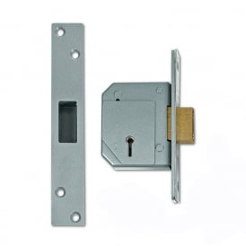 Satin Chrome 67mm 3G114 5 Lever Deadlock