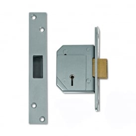 Satin Chrome 67mm 3G114 5 Lever Deadlock SPMS