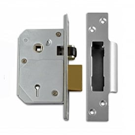 Satin Chrome 67mm 3K74E British Standard 5 Lever Sashlock