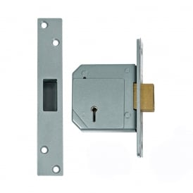 Satin Chrome 80mm 3G114 5 Lever Deadlock