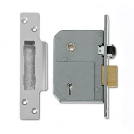Satin Chrome 80mm 3K74 5 Lever Sashlock