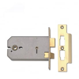 Polished Brass 152mm 2026 Horizontal Mortice Bathroom Lock