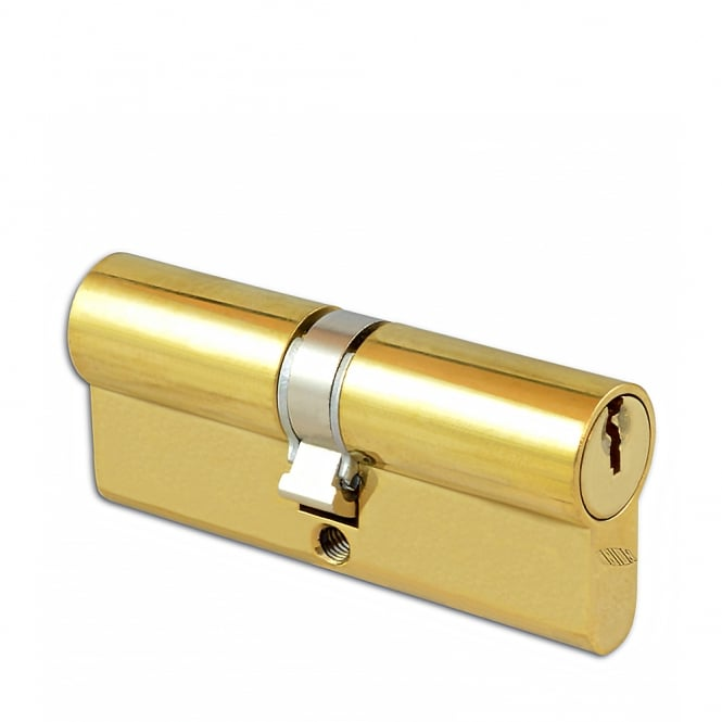 Union Polished Brass 36.5 / 36.5- 2X13 Euro Double Cylinder - 73mm