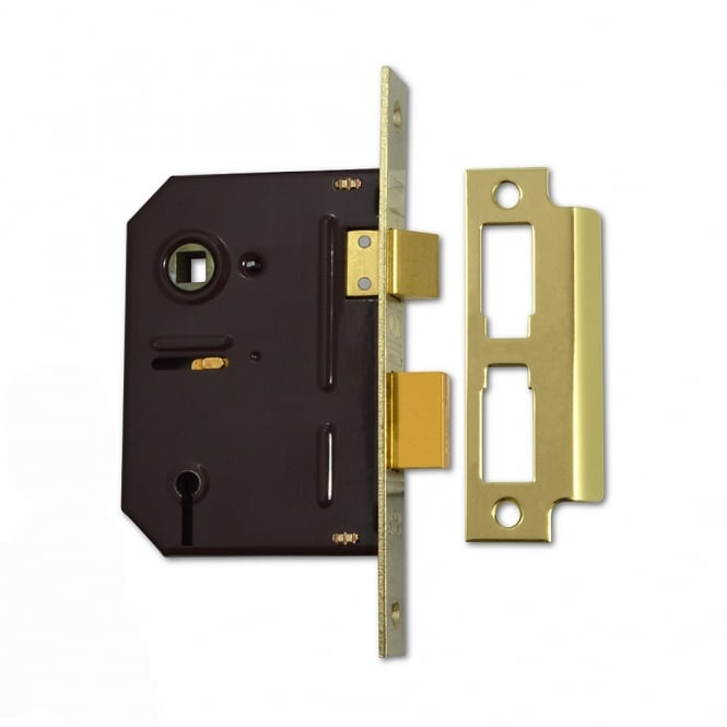 Union Polished Brass 75mm 2243 3 Lever Sashlock