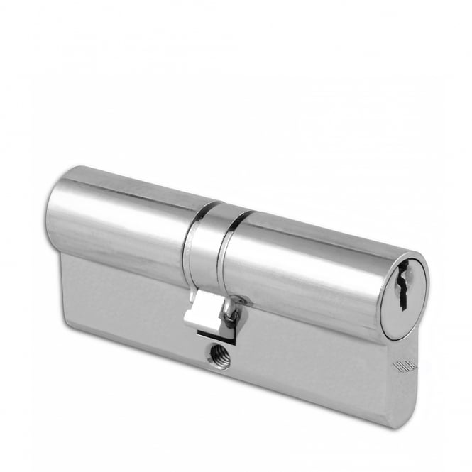 Union Satin Chrome 36.5 / 36.5- 2X13 Euro Double Cylinder - 73mm