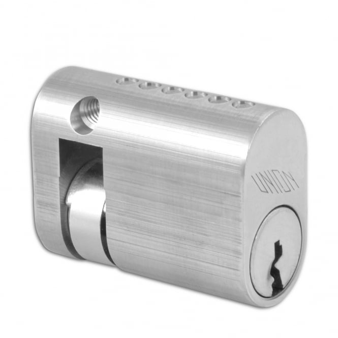 Union Satin Chrome 40mm 2x1 Oval Half Cylinder