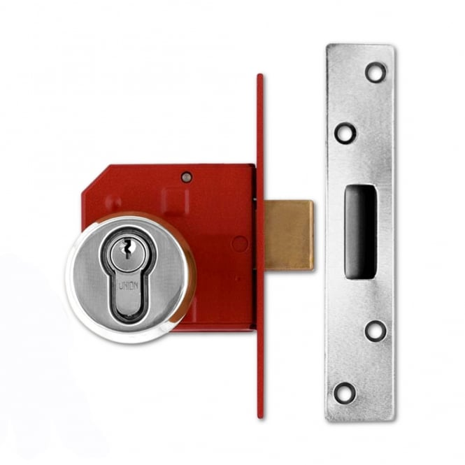 Union Satin Chrome 75mm 212441E Euro Deadlock
