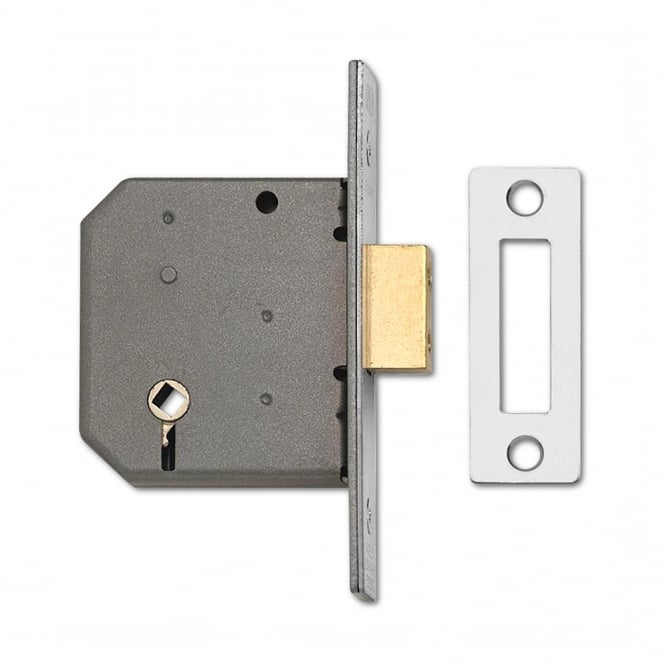 Union Satin Chrome 75mm 2126 Mortice Bathroom Lock