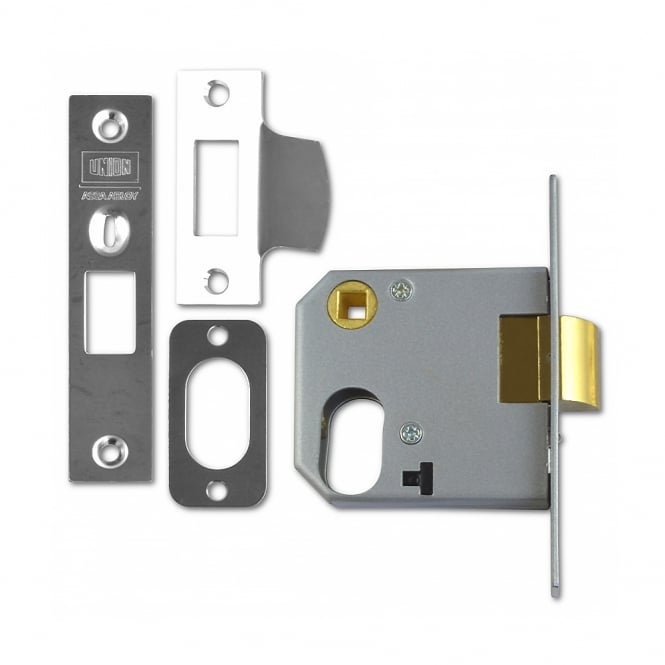 Union Satin Chrome 76mm 2332 Oval Nightlatch - Case Only